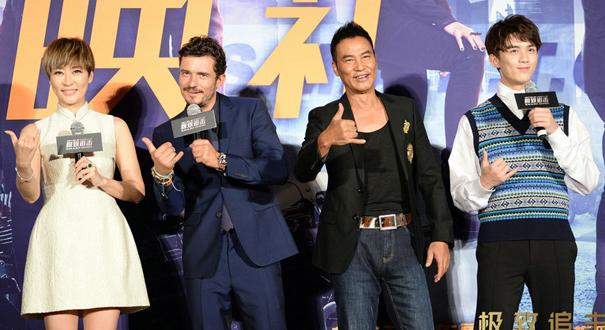 《極致追擊》北京首映 奧蘭多大秀高難度中文
