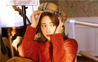 包文婧寫真紅毛衣超暖心