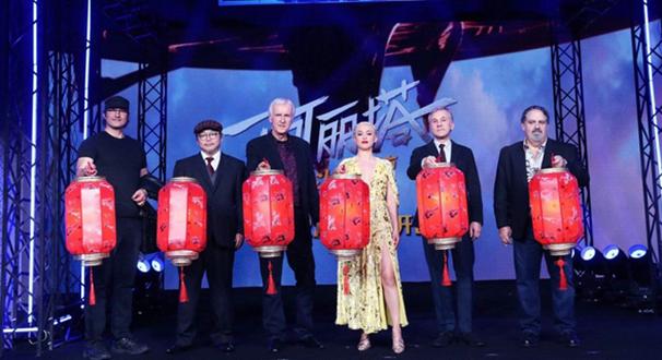 卡梅隆《阿丽塔》中国首映 李冰冰乌尔善等助阵