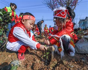 多民族兒童共迎植樹節