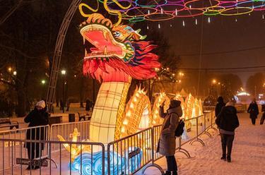 中國彩燈節在莫斯科開幕