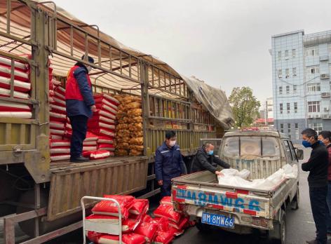 敏捷集團採購62噸農副産品送抵湖北五城