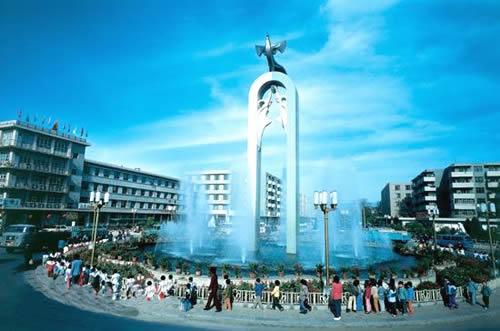 银川城市风景图片