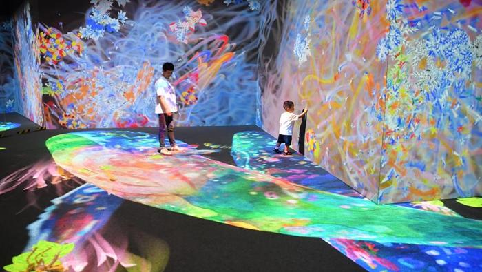 西安:科技藝術展上的多彩體驗