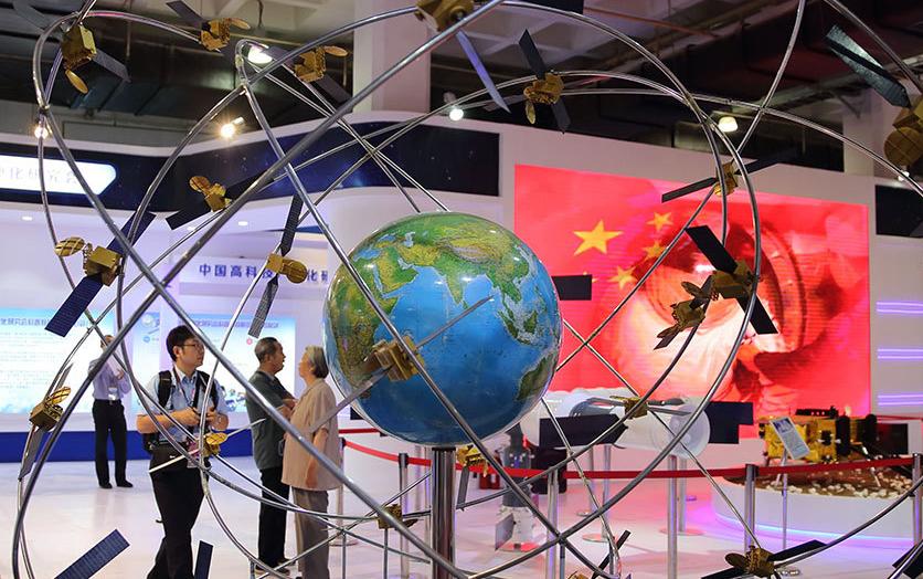 北鬥導航衛星星座模型亮相2017北京科博會