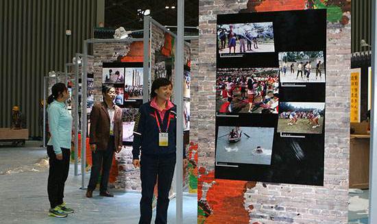 中国图片展在韩国河东郡开幕