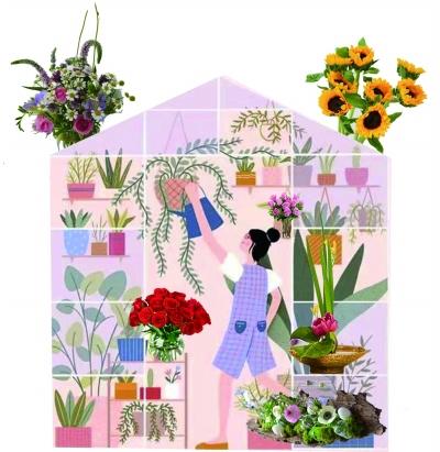 夏日插花,插出满屋芬芳
