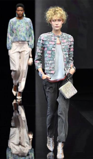 米蘭時裝周:喬治·阿瑪尼發布2019春夏新品