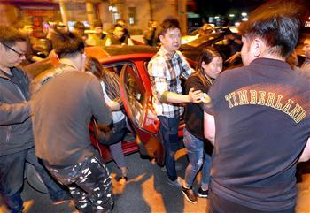 上海警方子夜抓捕
