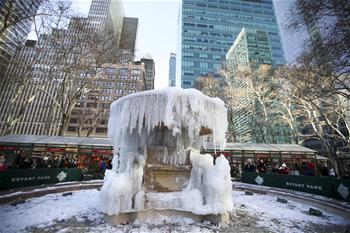 美國東部遭遇罕見低溫