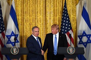 """特朗普稱實現以巴和平不限于""""兩國方案"""""""