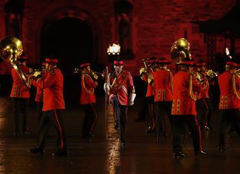 古堡前的愛丁堡國際軍樂節