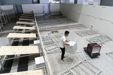 武漢江漢方艙醫院正式關艙拆除