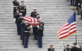 美國為前總統老布什舉行國葬
