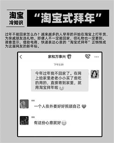 """各地兴起""""淘宝式拜年"""" """"无接触式经济""""添新年味"""