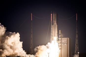 歐洲阿麗亞娜火箭成功發射兩顆通信衛星