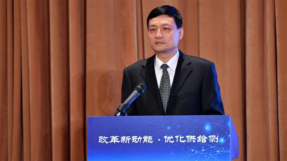 國務院國資委主任肖亞慶致辭並作主旨演講