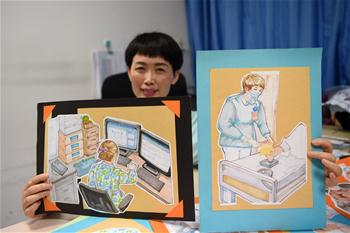 女兒手繪七幅漫畫為媽媽送上節日禮物