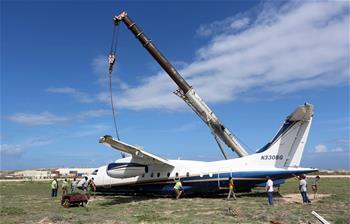 索馬裏一架輕型飛機降落時發生事故