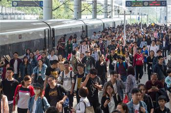 鐵路迎來假期返程客流高峰