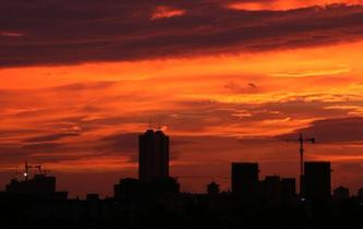 廣西欽州現火燒雲景觀