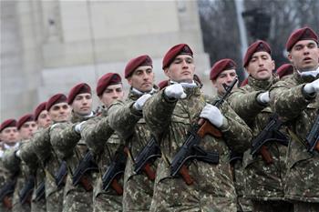 羅馬尼亞舉行國慶閱兵式