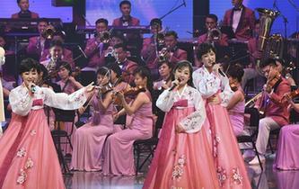 朝鲜艺术团在韩国举行首场演出