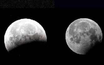 天空上演月全食