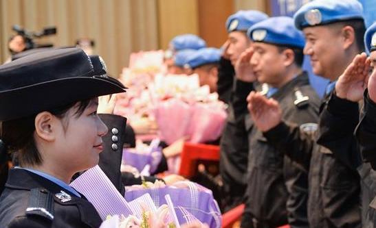 江蘇為維和警隊舉行表彰儀式