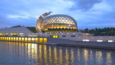 """塞納河上的""""音樂城""""文化中心"""