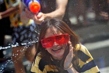 泰国庆祝泼水节