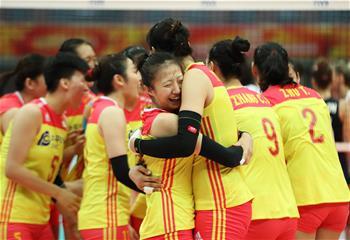 女排世錦賽:中國勝美國