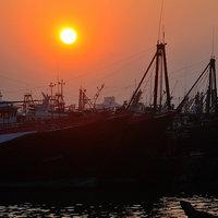 【大海邊】漁港碼頭的早晨