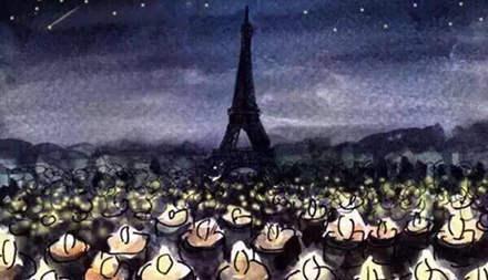 今天,我們的心都在巴黎!