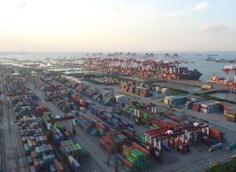 航拍上海自贸区