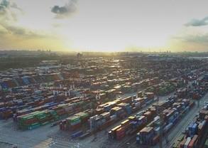 空中俯瞰上海自贸区