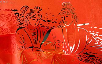 廣西河池八米巨幅剪紙長卷創作完成 人物形象神態各異栩栩如生