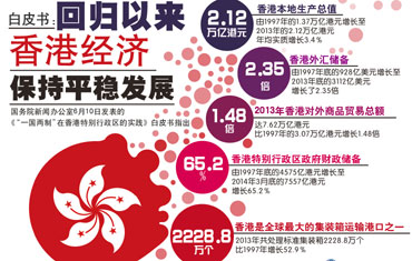 白皮書:回歸以來香港經濟保持平穩發展