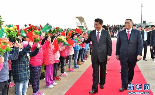習近平主席離開澳門返回北京