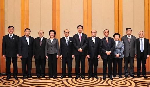 香港中聯辦主任張曉明宴請香港基本法部分港方草委