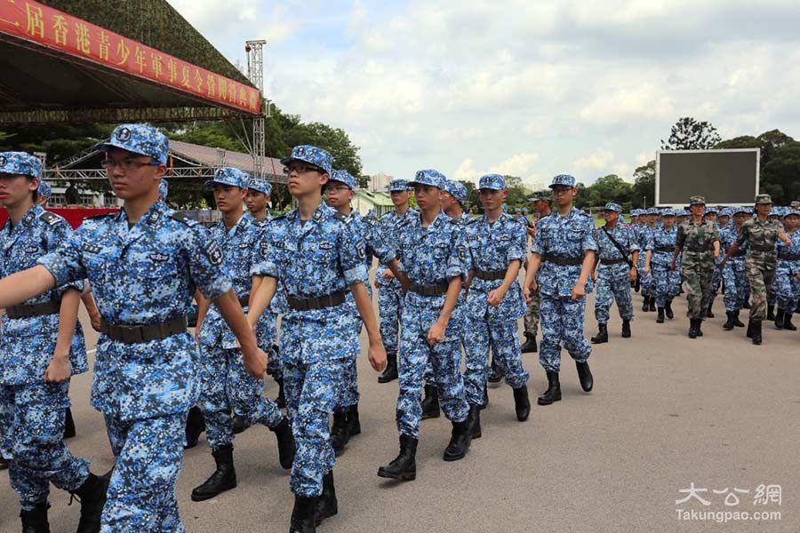 500名香港中學生參加駐港部隊軍事夏令營