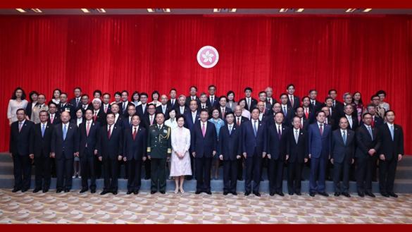 習近平會見香港特別行政區新任行政、立法、司法機構負責人