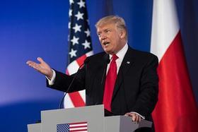 美國總統特朗普訪問波蘭