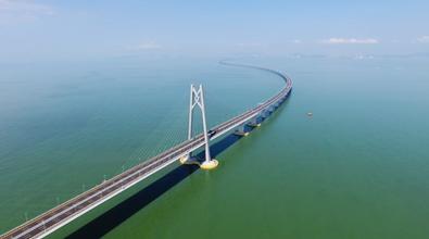航拍:港珠澳大桥静待通车