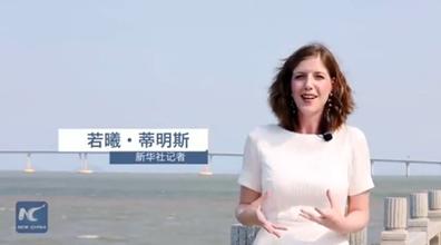 """""""洋记者""""行走港珠澳大桥"""