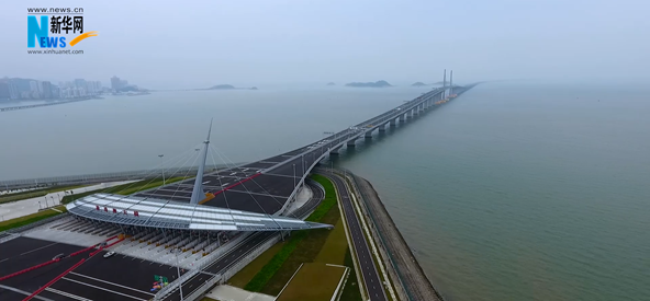 """【航拍】港珠澳大橋:了不起的""""超級工程"""""""