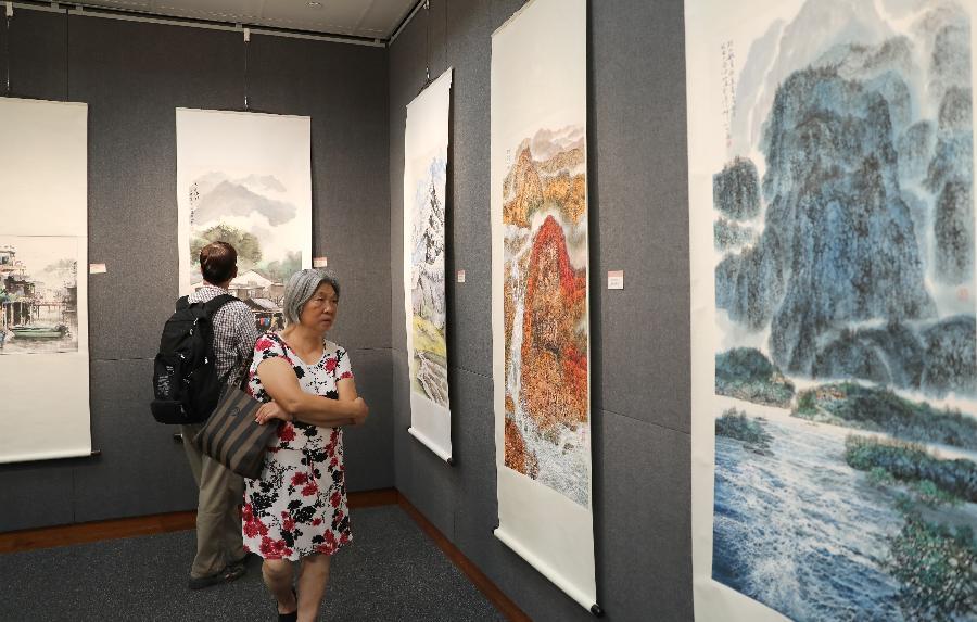 港深书画名家联展庆祝香港回归祖国22周年
