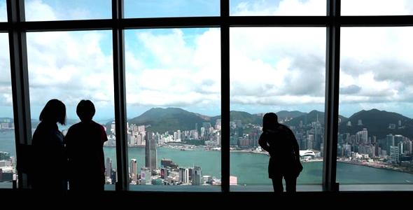 """香港""""天际100""""观景台以科技呈现""""未来香港"""""""