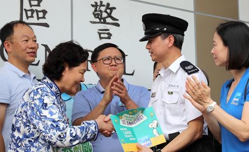力挺香港警隊讓香港恢復安寧