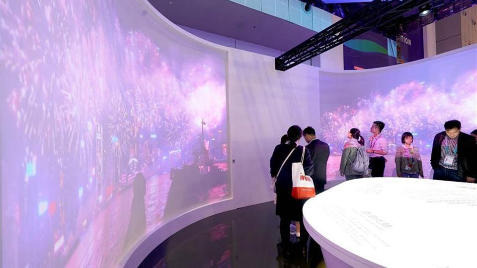 探访中国馆台湾、澳门和香港展区